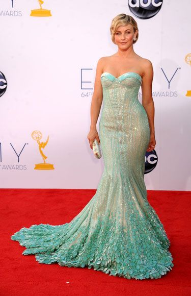 Emmys 2012: The Best of the Red Carpet - Julianne Hough channels mermaid style in a gown by Georges Hobeika.