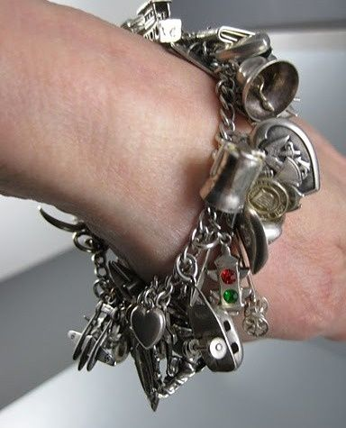 Instantly entertaining, Vintage Charm Bracelets tell the story  of a womans life: Her mystery, flair, and dignity. Very much  like a diary, except beautiful charmed