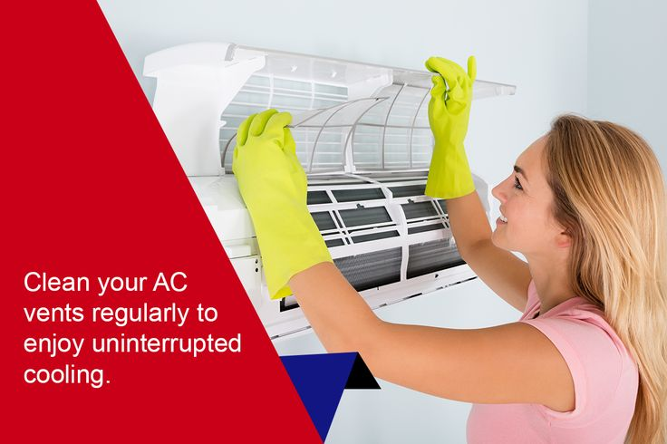Don't let dust and dirt gather in AC vents. Clean them regularly to prevent any obstruction of the regular flow of cool air.