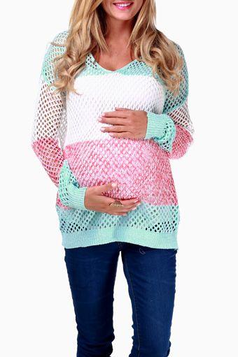 Aqua-White-Red-Striped-Maternity-Sweater -pinkblushmaternity.com  love this!!!