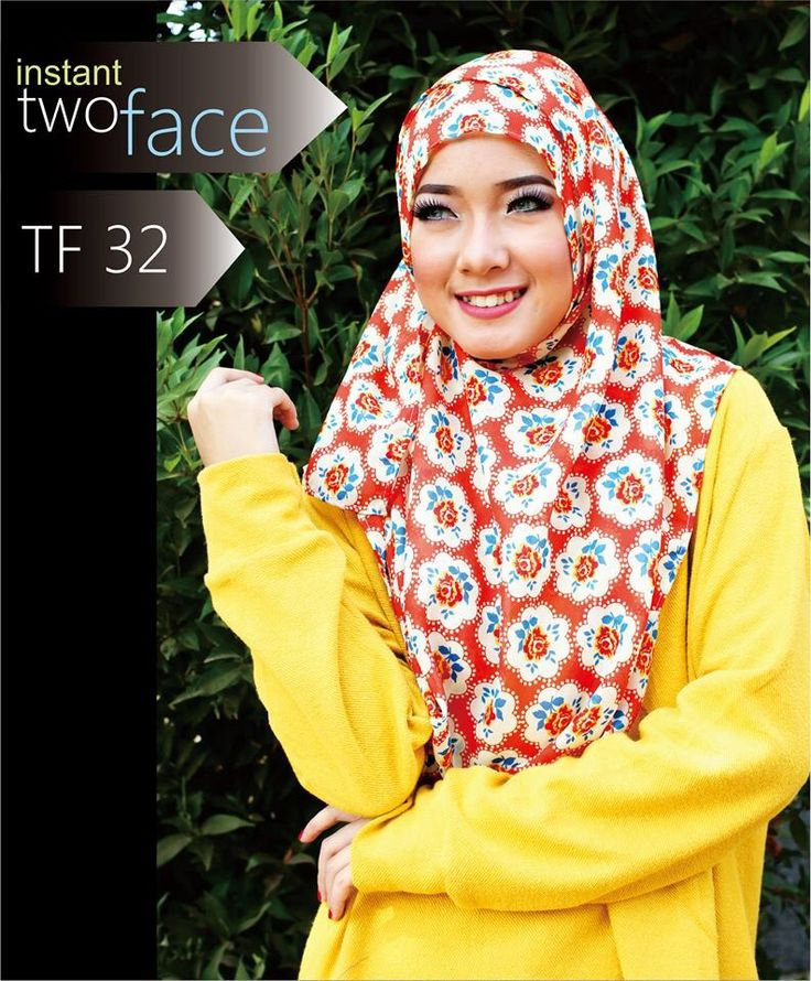 Instant two face.  Price : IDR 60.000.  Bahan chiffon pine.  Size 55x200