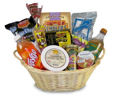 michigan gift basket baskets themed food gifts detroit auction items mp3 party shower include