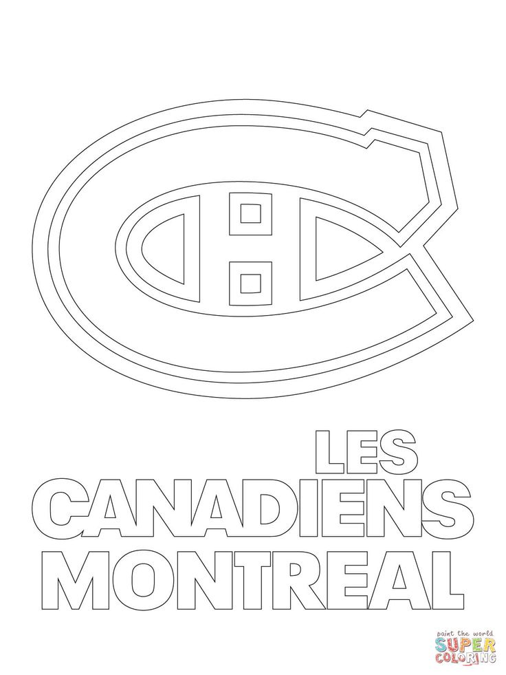 montreal canadiens colouring pages logo google search
