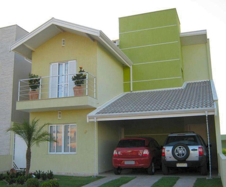 Fachadas casas pintadas de amarelo pesquisa google - Fachadas de casas pintadas ...