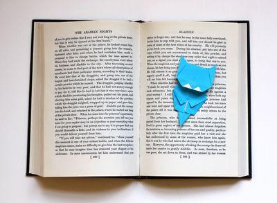 Origami cat bookmark