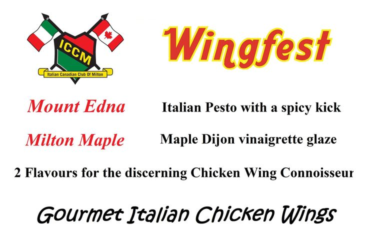 Rotary Wing Fest TONIGHT from 5 PM - 11 PM and Saturday from 11 AM - 11 PM at Milton's Rotary Park. Come by and visit or table to try our ICCM Wings, MOUNT EDNA & MILTON MAPLE. We will be voted the best tasting wings, Italian Style!   Thank you Domenic Pasqualino from Pasqualino Fine Food Fine Wine Restaurant.Visit http://www.pasqualinofinefoodfinewine.com/