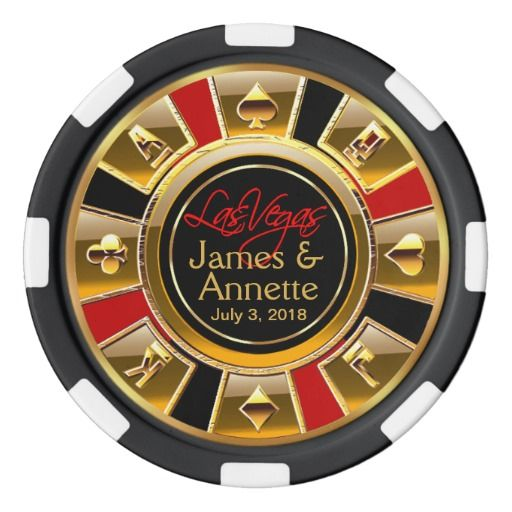 Vegas Newlyweds Casino Chip Red & Black