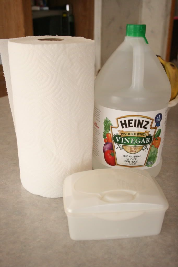 Baby wipe containers are perfect to hold your DIY cleaners and solutions