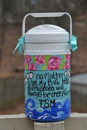 TSM quote, sorority life, cooler painting