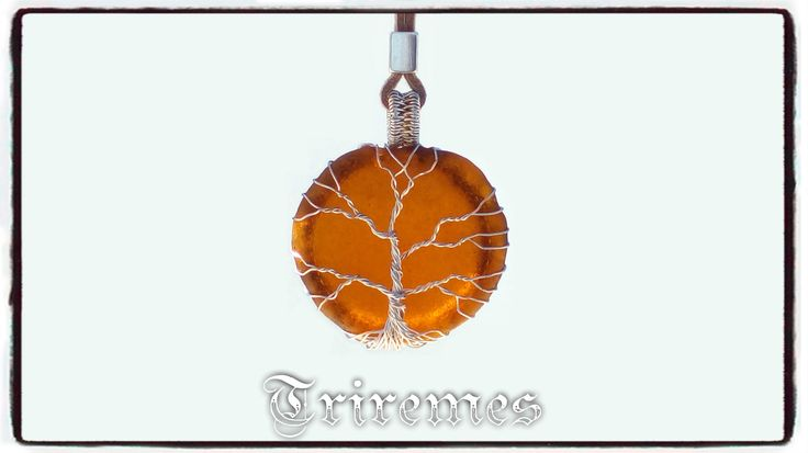 tree of life sea glass necklace