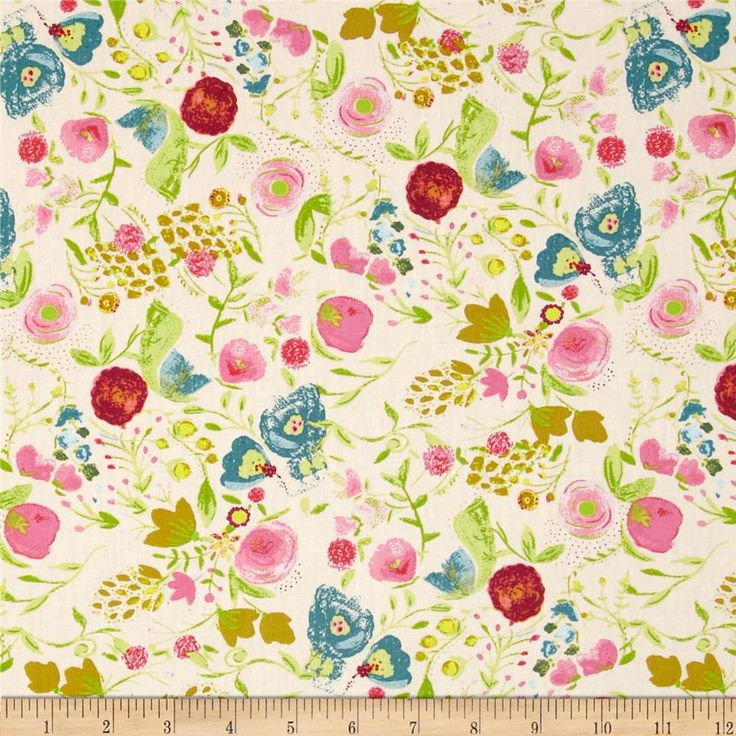 111 best swatch book spring florals images on pinterest for Nursery print fabric