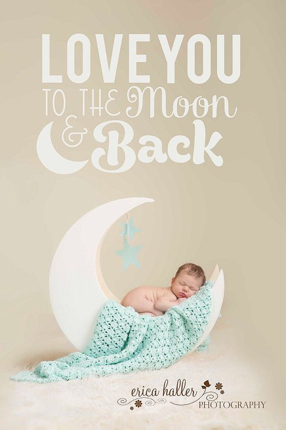 PJ's Moon Prop Newborn Painted photography by PJsCraftingCorner