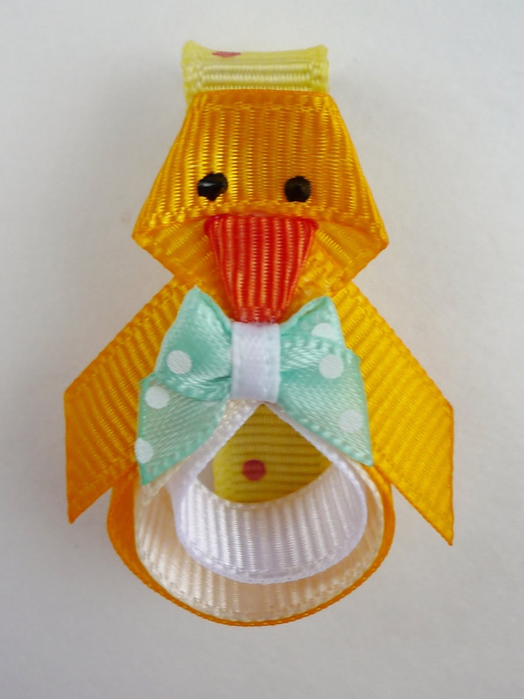 Easter Chick Hairclip