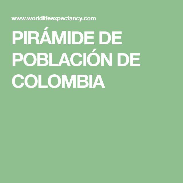 PIRÁMIDE DE POBLACIÓN DE COLOMBIA