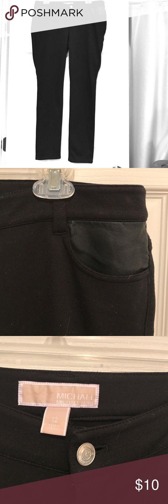 Black Michael Kors Leggings This is a cute pair of black Michael Kors leggings with leather pockets. Used, but in good condition ! Michael Kors Pants Leggings