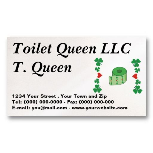 Toilet Paper business Profile Card Business Card #businesscards