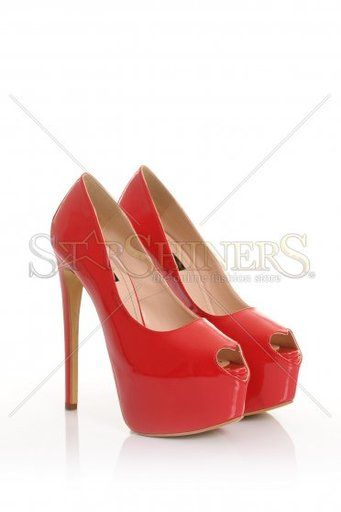 Pantofi Mineli Boutique Beloved Red