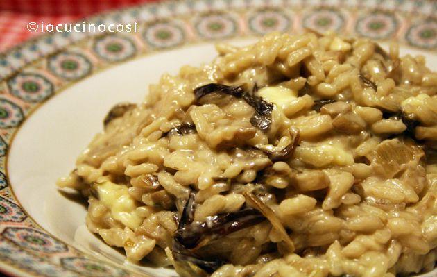 Risotto radicchio funghi e brie   Ricetta primo piatto
