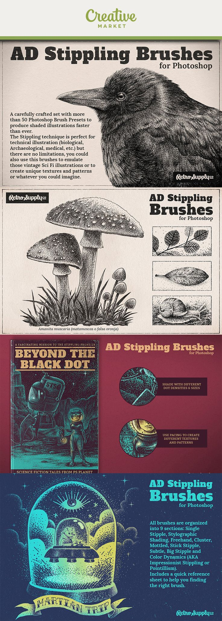 #Ad 50+ Photoshop Brush Presets so you always have the perfect stippling brush.Create stippling effects in seconds with the swoop of a brush (instead of having to create the effect one dot at a time).Tons of different dot densities and sizes for endless variety.