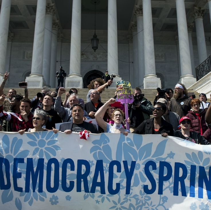 Hundreds Arrested at US Capitol During 'Democracy Spring' Campaign Finance Protests - After organizing a march from Philadelphia to DC, Democracy Spring protesters occupied the US Capitol steps on Monday, calling for an end to corporate and dark money in politics.  This was an awesome day.  I can't wait to get back to #DemocracySpring
