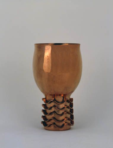 Paavo Tynell; Copper Vase, 1948.
