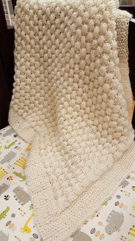 (6) Name: 'Knitting : Champagne Bubbles Blanket