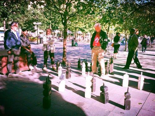 Big chess in Kungsträdgården, Stockholm