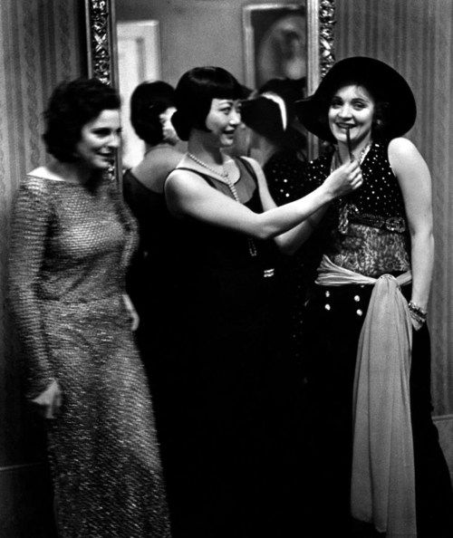 Actresses Leni Riefenstahl, Anna May Wong and Marlene Dietrich at Pierre Ball. Photograph by Alfred Eisenstaedt. Berlin, Germany, 1928