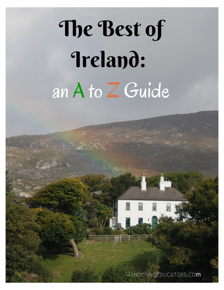 The Best of Ireland: An A-Z Guide, with the best resources on Ireland from travel writers. This looks like the mother lode of info!