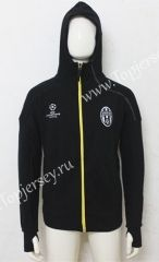 2016-17 Juventus UEFA Champions League Black Inside-Cotton  Soccer Hooded Thailand Jacket 2