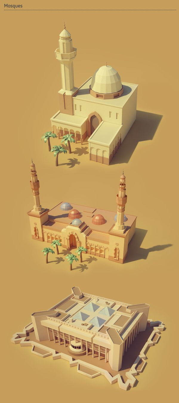 Jubail city by Berd, via Behance