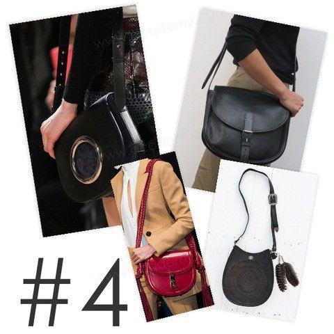 СУМКА-СЕДЛО   К популярным фасонам женских сумочек в этом году добавилась удобная и функциональная сумка-седло. Сумки этой формы выполнены в различных стилистиках, что позволит Вам выбрать подходящий аксессуар для своего гардероба.  Еще добавим, что популярны как небольшие сумочки на длинном ремешке, так и более крупные экземпляры на короткой ручке.