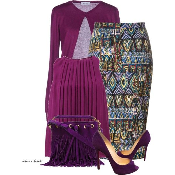 Ethnic outfit 2 by sonies-world on Polyvore featuring moda, Etro, Moschino, Glamorous, Christian Louboutin and Yves Saint Laurent