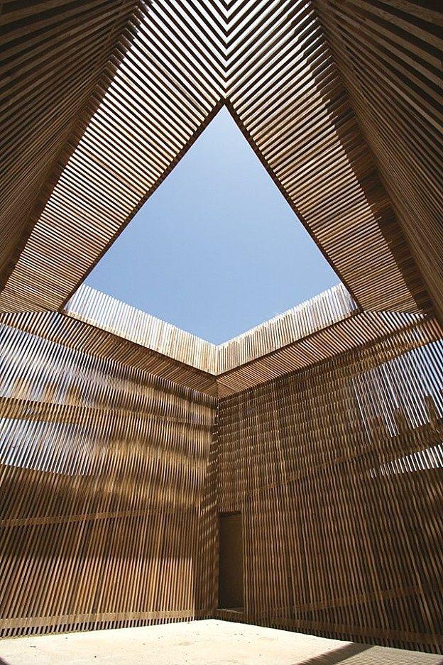 Torre Del Homenaje, Spain, by Antonio Jiménez Torrecillas. Open roofed enclosure.