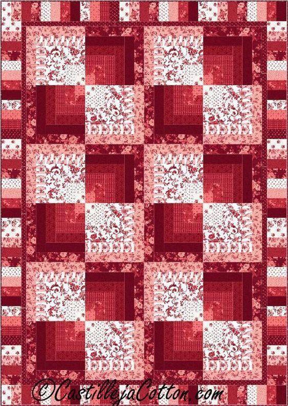 Half Log Cabin Quilt Pattern 4791-1/2 | Craftsy