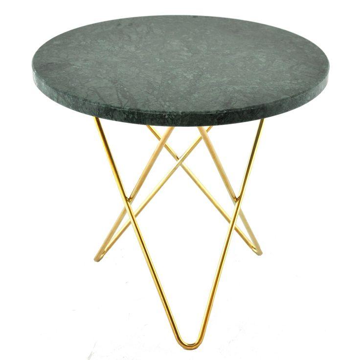 Tall Mini O sivupöytä, vihreä marmori/messinki ryhmässä Huonekalut / Pöydät…