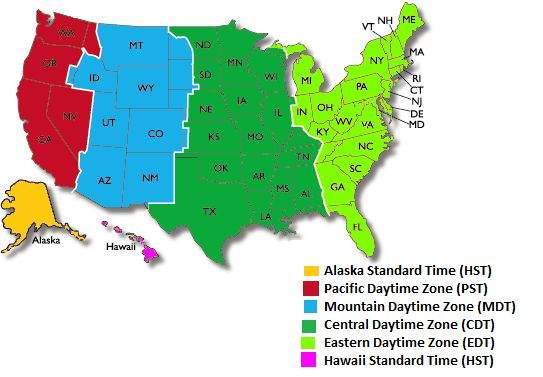 Time Zone Map - Time and Date