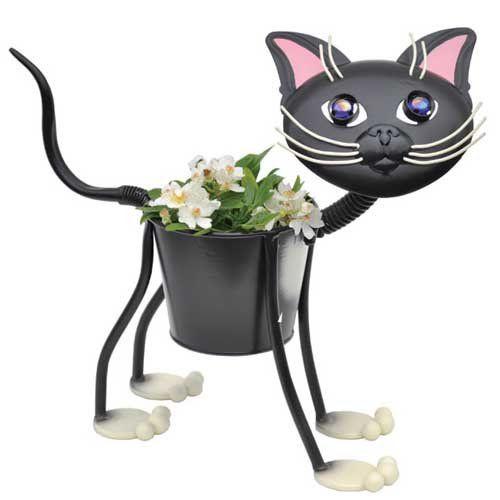 Tuxedo Cat Planter Sculpture Diy Planter Ideas 1001