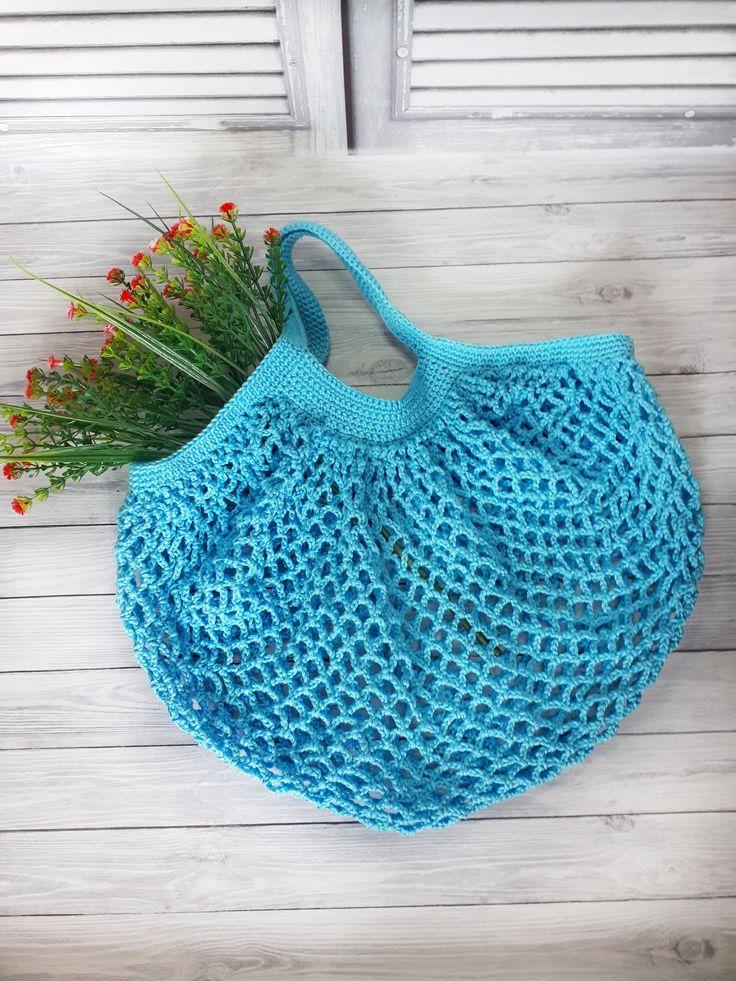 Handpainted Orange Flower Knitting Bag Lanyard