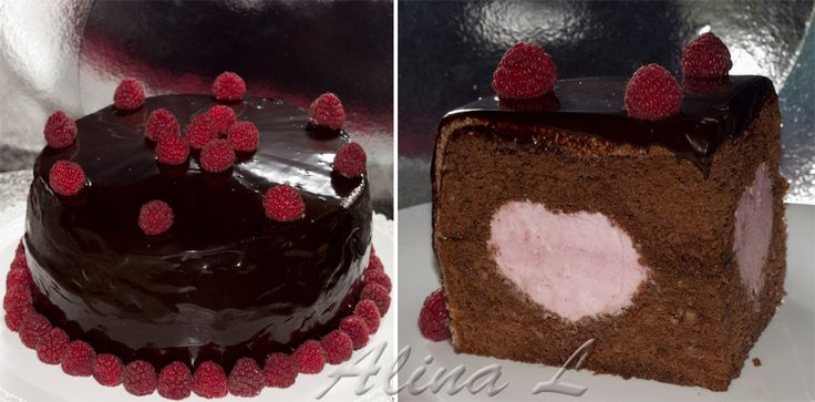 Шоколадный торт с сюрпризом (повышенная сложность)          Торт с шоколадной глазурью         Шоколадно-малиновый торт (повышенная сл...