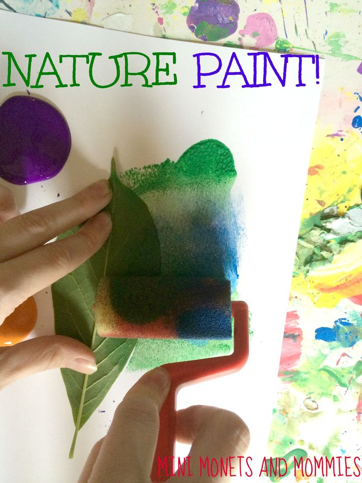 Negative Space Art: Kids' Leaf Paint Activity at Mini Monets and Mommies