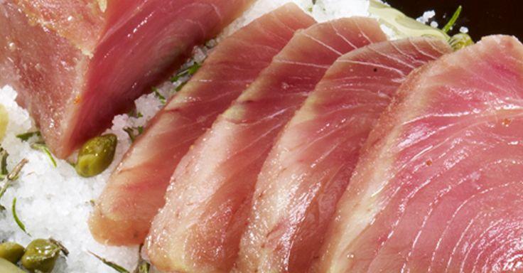 Tataki de Atún Campos a la sal, una receta muy sencilla con aroma japonés.
