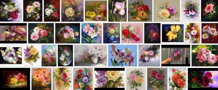 Bloemen schilderen met Gary en Kathwren Jenkins. Zijleren je tijdens schilderlessen alle kneepjes van het schildersvak, zodat je binnen