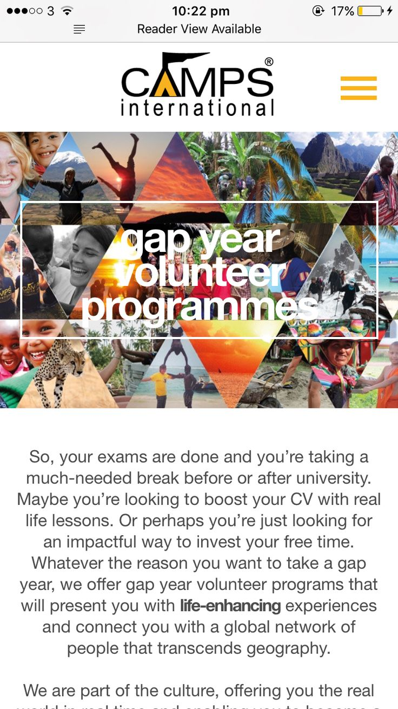 Volunteering - Gap year