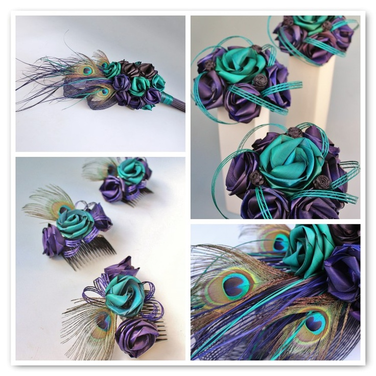 Flaxation for flax wedding bouquets and flax flowers - except for the purple, the turquoise is my colour!