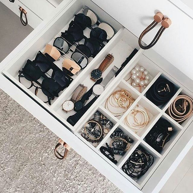 Thank you! @Regrann_App from @theankaofficial -  The importance of a well organised wardrobe cannot be over emphasised gems!  A good wardrobe layout doesn't stop at your clothes alone. Organising your watches, jewellery, sunglasses etc as seen in this image will constantly inspire you and guide your accessories choices.  It will also allow your mind work quickly when you're in a rush. You'll know what drawer to open and what items to grab when just in he nick of time.  Finally, a great…