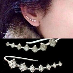 2015-Italina-CZ-Diamonds-Ear-Hook-Stud-Earrings-For-women-925-sterling-silver-Jewelry-Brincos-Pendientes-Boucle-doreille-bijoux-0