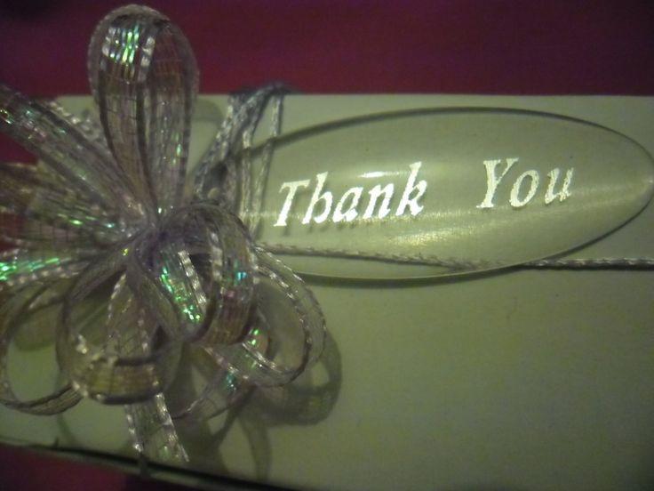 Thank You tags (acrylic)