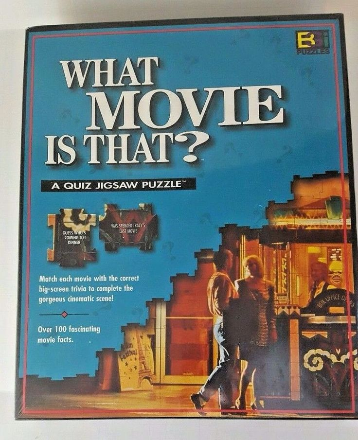 Jigsaw Puzzle 252 Buffalo Games What Movie Is That Film Trivia Game  #BuffaloGames