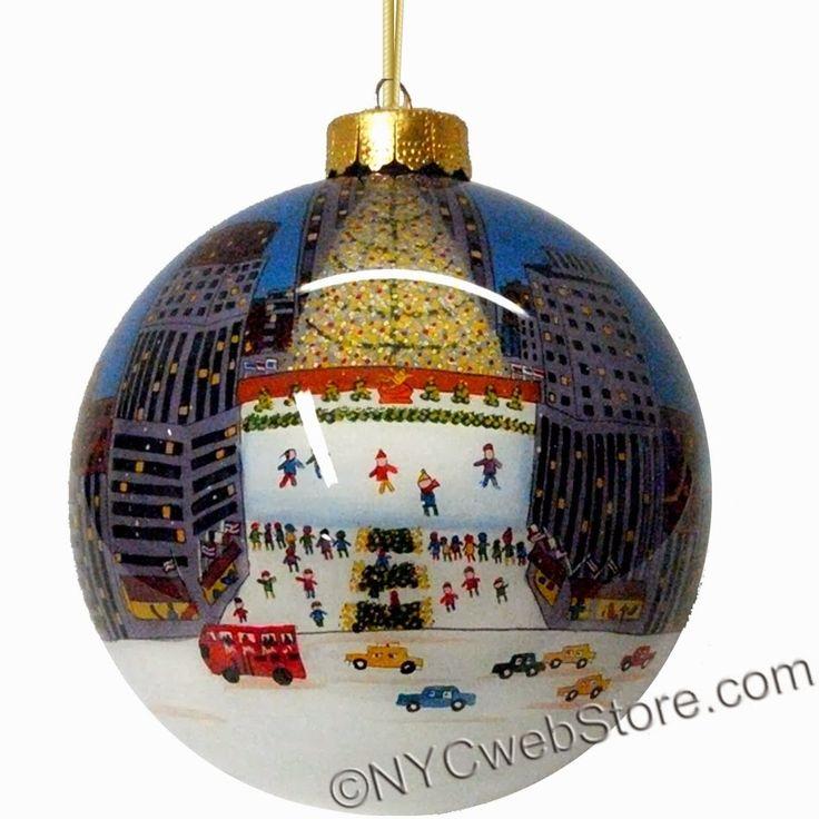 Newest Christmas Decorations 2013: Rockefeller Center Glass Ball Christmas Ornament